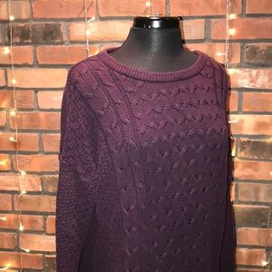 Old Navy Purple Knit Sweater Thick Warm Oversized